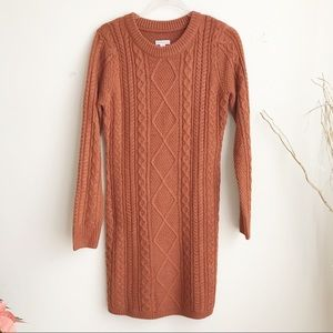 Merona cable knit sweater dress size S
